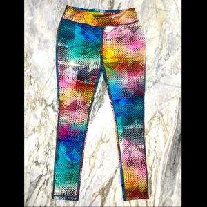 REFLEX Multicolor Kaleidoscope Snakeskin Leggings